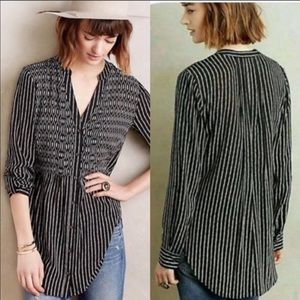 Anthropologie Maeve button front shirt 4